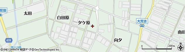 愛知県田原市赤羽根町(夕ケ原)周辺の地図