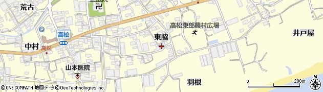 愛知県田原市高松町(東脇)周辺の地図
