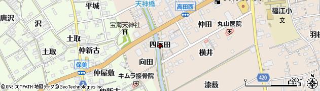 愛知県田原市福江町(四反田)周辺の地図