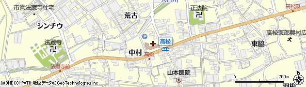 愛知県田原市高松町周辺の地図