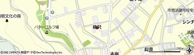 愛知県田原市高松町(椿沢)周辺の地図