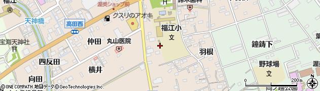 愛知県田原市福江町(宮ノ脇)周辺の地図