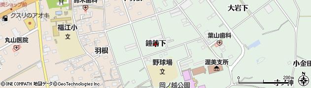 愛知県田原市古田町(鐘鋳下)周辺の地図