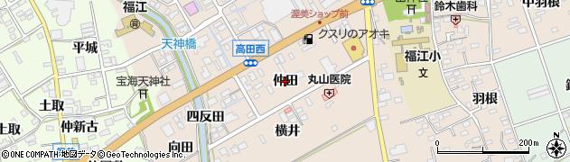 愛知県田原市福江町(仲田)周辺の地図