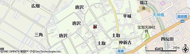 愛知県田原市保美町(沢)周辺の地図
