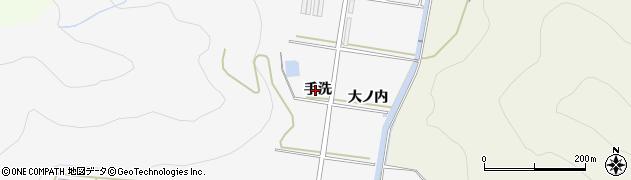 愛知県田原市伊川津町(手洗)周辺の地図