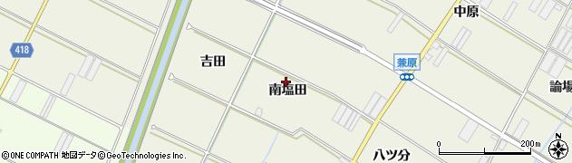 愛知県田原市中山町(南塩田)周辺の地図