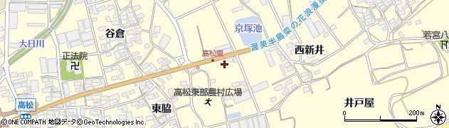 愛知県田原市高松町(京塚)周辺の地図
