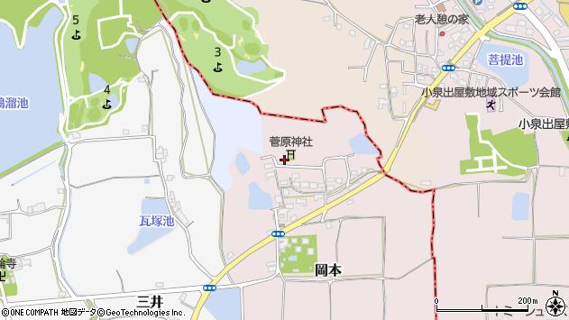〒636-0102 奈良県生駒郡斑鳩町岡本の地図
