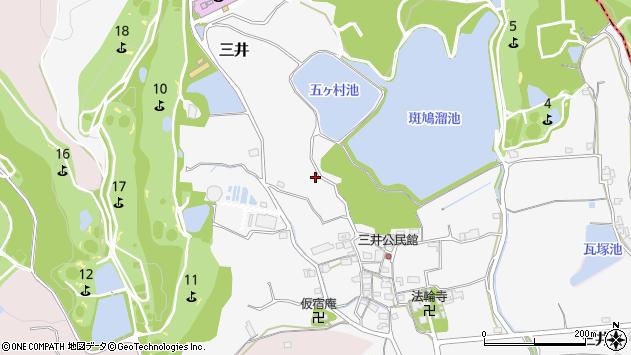 〒636-0101 奈良県生駒郡斑鳩町三井の地図