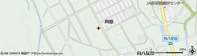 愛知県田原市赤羽根町(阿原)周辺の地図