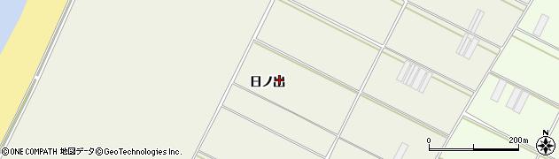愛知県田原市中山町(日ノ出)周辺の地図