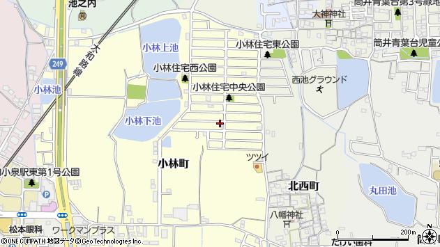 〒639-1026 奈良県大和郡山市小林町の地図