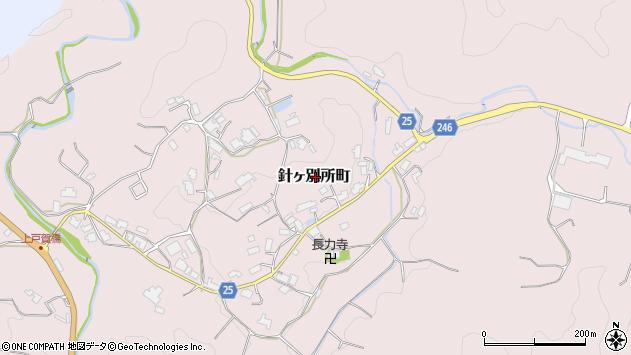 〒632-0112 奈良県奈良市針ケ別所町の地図