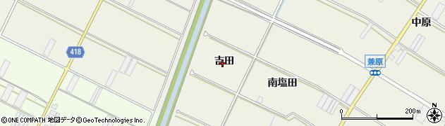 愛知県田原市中山町(吉田)周辺の地図