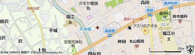 愛知県田原市福江町(八反坪)周辺の地図
