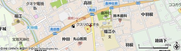 愛知県田原市福江町周辺の地図