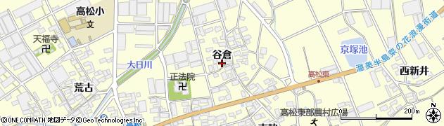 愛知県田原市高松町(谷倉)周辺の地図
