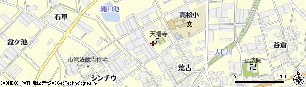 愛知県田原市高松町(木場)周辺の地図