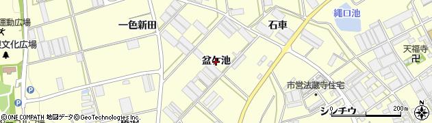 愛知県田原市高松町(盆ケ池)周辺の地図