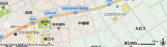 愛知県田原市福江町(中羽根)周辺の地図