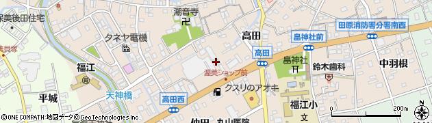 愛知県田原市福江町(堂前)周辺の地図