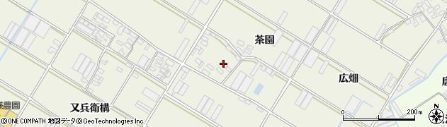 愛知県田原市中山町(茶園)周辺の地図