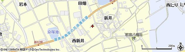 愛知県田原市高松町(新井)周辺の地図