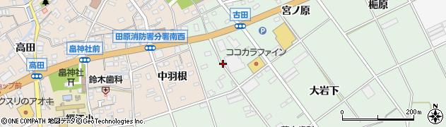 愛知県田原市古田町(エゲノ前)周辺の地図