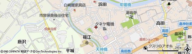 愛知県田原市福江町(天神)周辺の地図