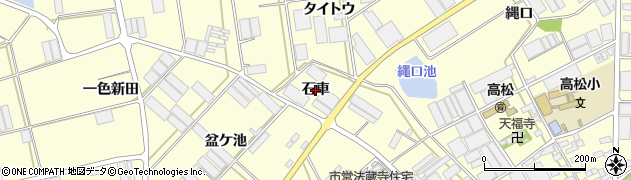 愛知県田原市高松町(石車)周辺の地図