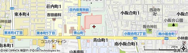 大阪府八尾市若草町周辺の地図