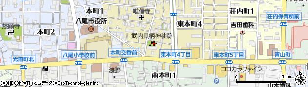 武内長柄神社跡周辺の地図