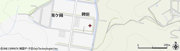 愛知県田原市伊川津町(稗田)周辺の地図
