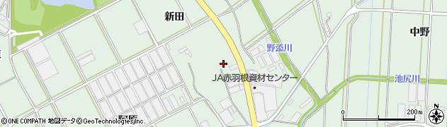 愛知県田原市赤羽根町(新田)周辺の地図