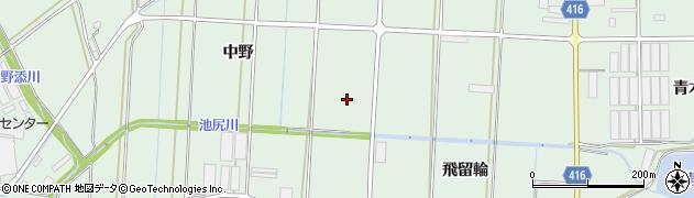 愛知県田原市赤羽根町(中野)周辺の地図