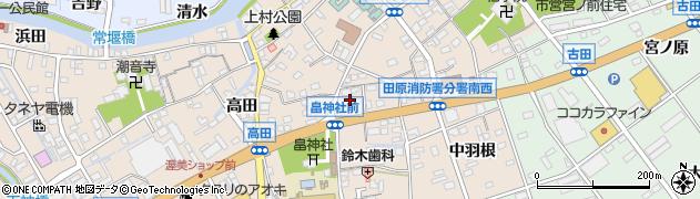 愛知県田原市福江町(沢)周辺の地図