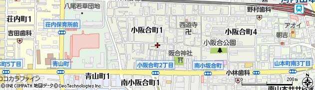 大阪府八尾市小阪合町周辺の地図