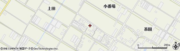 愛知県田原市中山町(小番場)周辺の地図