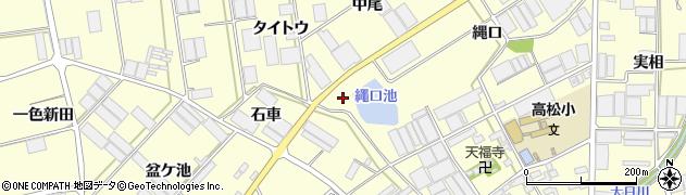愛知県田原市高松町(縄口)周辺の地図