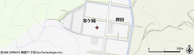 愛知県田原市伊川津町(寒ケ岡)周辺の地図