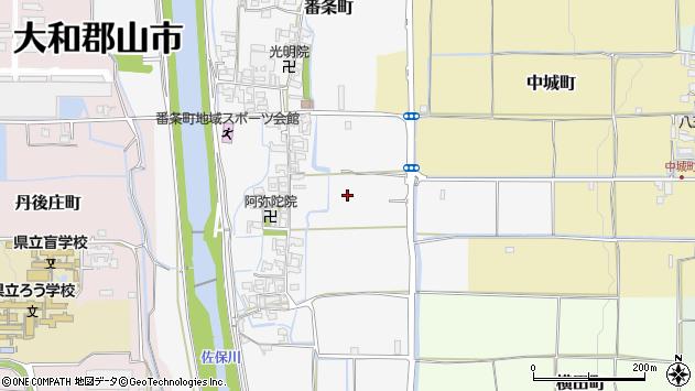 〒639-1117 奈良県大和郡山市番条町の地図