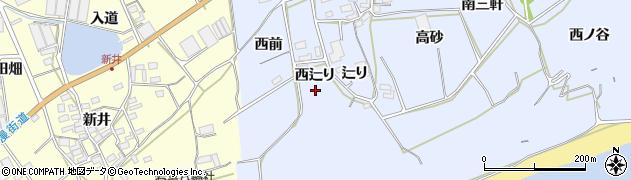 愛知県田原市大草町(西辷り)周辺の地図