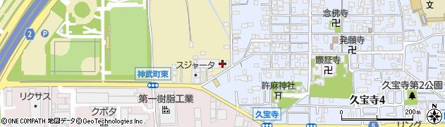 大阪府八尾市西久宝寺周辺の地図