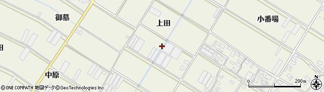 愛知県田原市中山町(上田)周辺の地図