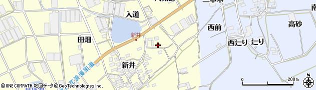 愛知県田原市高松町(入道)周辺の地図
