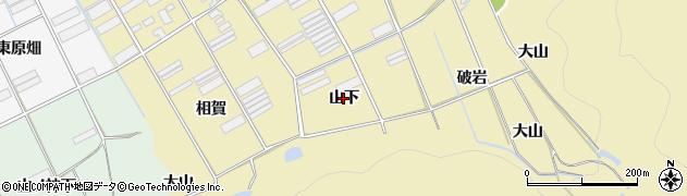 愛知県田原市高木町(山下)周辺の地図