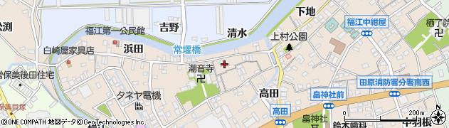 愛知県田原市福江町(原ノ島)周辺の地図