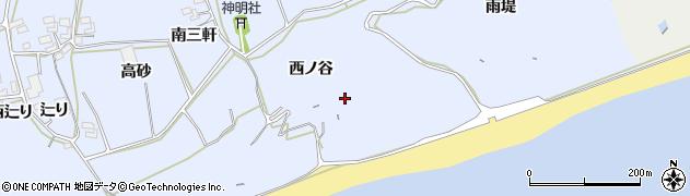 愛知県田原市大草町(西ノ谷)周辺の地図