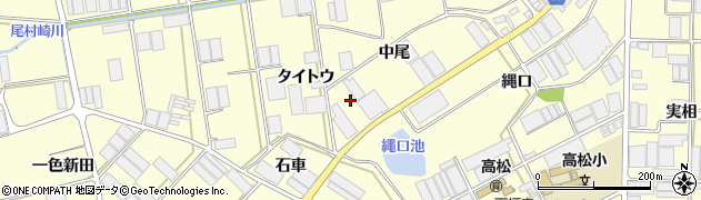 愛知県田原市高松町(中尾)周辺の地図